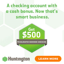 Huntington Bank $500 Business Checking Bonus [IN, KY, MI, OH, PA, WV, IL, WI]