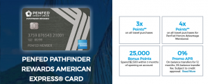 PenFed Pathfinder Rewards Amex Card 25,000 Bonus Points + Up to 4X Points on Travel + $100 TSA Application Fee Credit + No Annual Fee