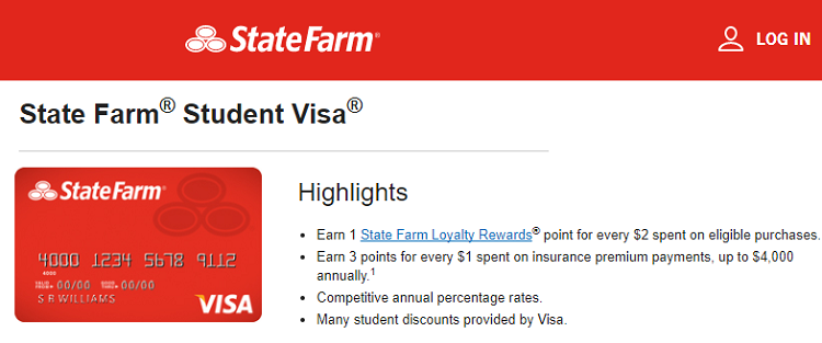 state farm student visa credit card review 3x points on insurance premium payments no annual fee. Black Bedroom Furniture Sets. Home Design Ideas