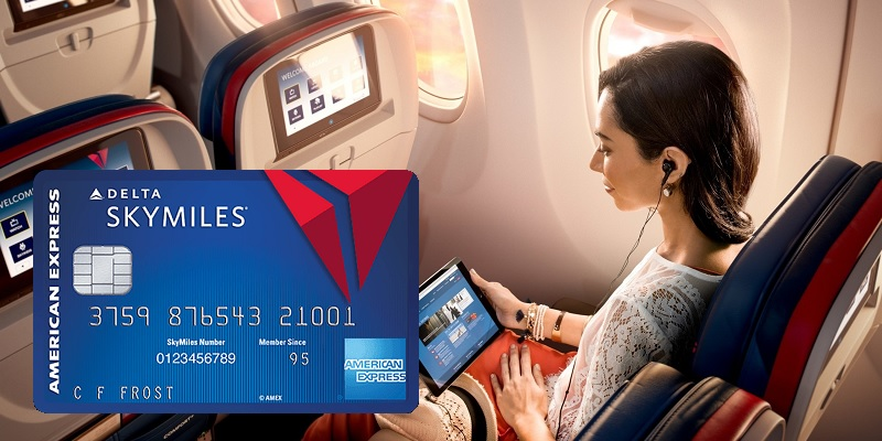 Amex Delta Blue SkyMiles Credit Card bonus promotion offer review