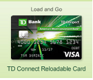 TD Bank Connect Reloadable Prepaid Card