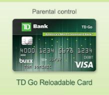 TD Bank Go Reloadable Prepaid Visa Card