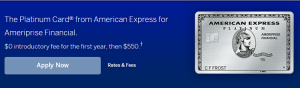 AmEx Platinum for Ameriprise Credit Card 30,000 Bonus Points + 5X Points on Flights and Hotels + Up To $200 Uber Savings Annually + Annual Fee Waived First Year