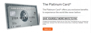 Amex Platinum Credit Card CardMatch Offer 100,000 Points Bonus + $200 Uber Credits + $200 Airline Fee Credit (YMMV)