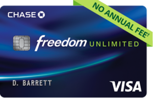 Chase Freedom Unlimited Card $150 Bonus + 1.5% Cash Back