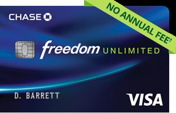 Chase Freedom Unlimited Card $150 Bonus + 1.5% Cash Back