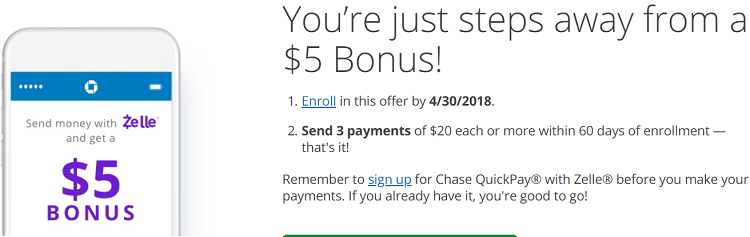 Chase Quickpay Offer Get 10 Bonus Or 500 Ur Points When Sending