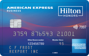 Hilton Honors American Express Business Card 125,000 Bonus Points + 12X Hilton Honors Bonus Points at Hotels and Resorts + 6X on Gas Stations and Restaurants