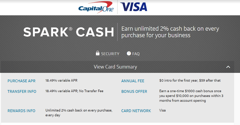 Capital one spark cash visa for business card 1000 bonus 2 cash capital one spark cash visa for business card pdf if youre eligible for this offer sign up today this is a targeted offer so there is no direct link to colourmoves