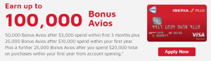 Chase Iberia Visa Signature Card 100,000 Bonus Avios + Up To 3X Avios (5/24 Rule Does Not Apply)