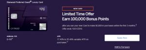 American Express Starwood Preferred Guest Luxury Credit Card 100,000 Bonus Points + 6X Points On SPG & Marriott Rewards Hotels