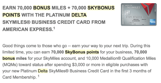 American express delta platinum credit card 70000 miles bonus american express delta platinum credit card 70000 miles bonus 70000 skybonus points 100 statement credit 10000 mqms targeted colourmoves