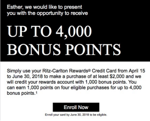 Chase Ritz-Carlton Card Spending Bonus: Earn Up To 4,000 Points