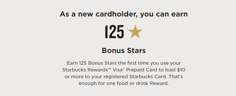 when you sign up for the starbucks rewards visa prepaid card you can earn 125 bonus stars once you use your starbucks rewards visa prepaid card the first - Prepaid Rewards Card