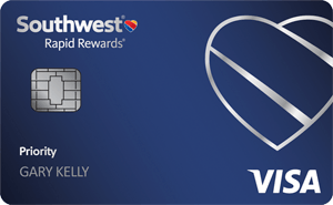 Southwest Rapid Rewards Priority Credit Card Up To 65,000 Points Bonus + 7,500 Points Cardmember Anniversary Bonus