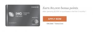 Chase IHG Premier Referral Bonus: 80,000 Bonus Points + Anniversary Free Night