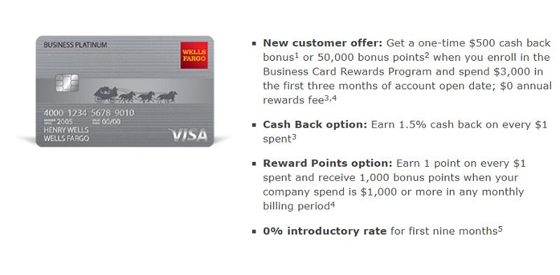 Wells Fargo Business Platinum