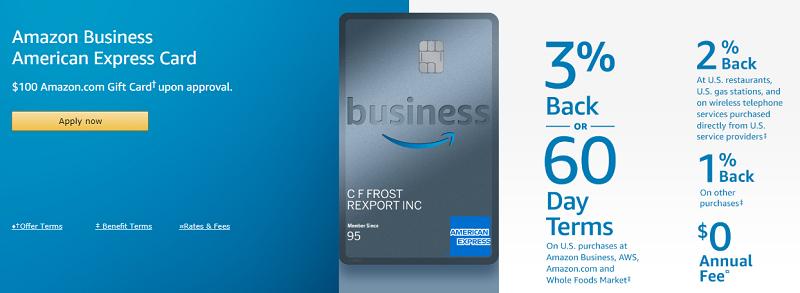 amazon business american express card 120 amazon gift