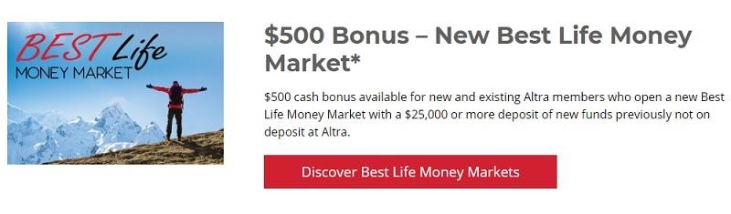 Altra Federal Credit Union $500 Bonus