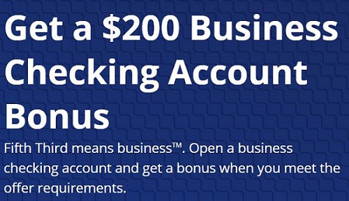 Fifth Bank Business Checking Account Bonus
