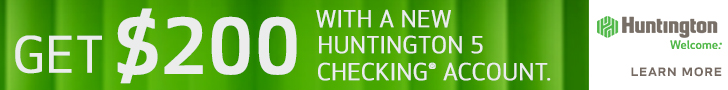 Huntington 5 $200 Checking Bonus