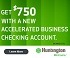Huntington Accelerated Business Checking Bonus