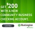 Huntington Community Business Checking Bonus
