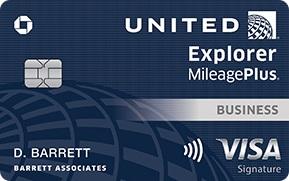United Explorer Business Card T Banner