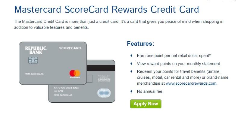 Mastercard Scorecard Rewards Credit Card