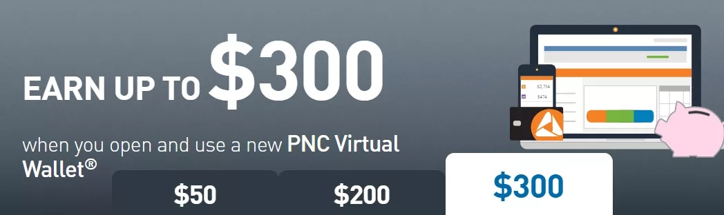 PNC Bank Promotions: $50, $200, $300 Checking Offers