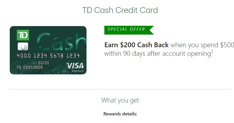 TD Cash Rewards