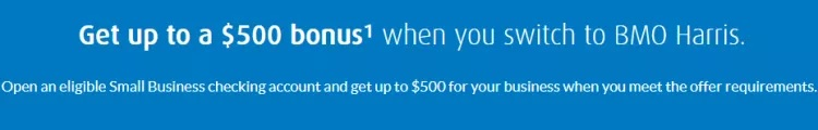 BMO Harris $200 & $500 Business Checking Bonus