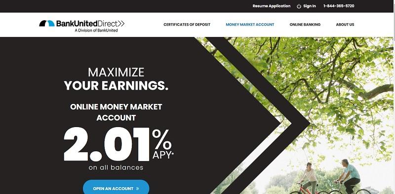 BankUnitedDirect Money Market Account: Earn 2.01% APY Rate [Nationwide]