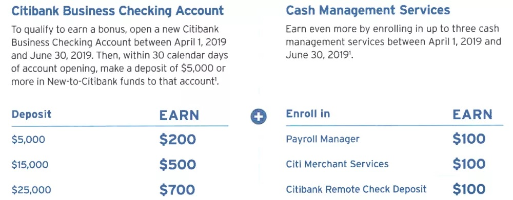 Citi $700 Business Checking Promotion