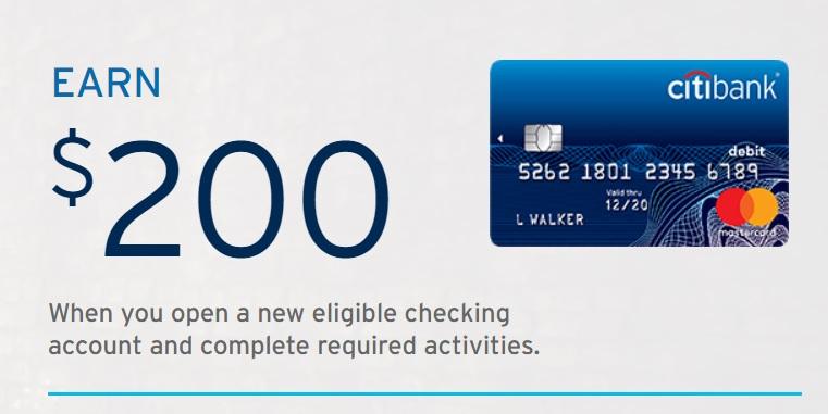 Citibank $200 Checking Bonus