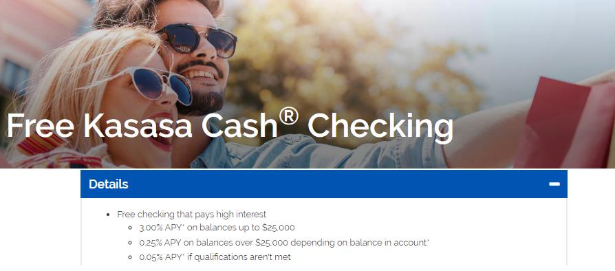 First Pryority Bank Kasasa Cash Checking Account Earn 3
