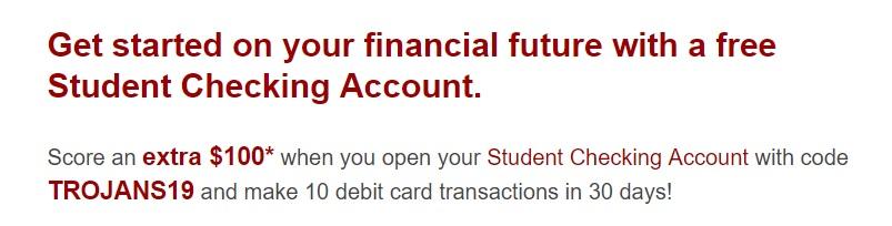 USC Credit Union $100 Bonus