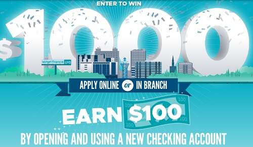 Widget Financial $100 Checking Bonus (PA)